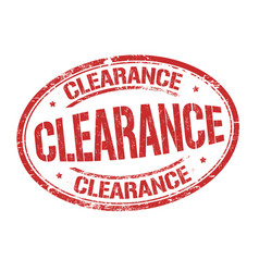 clearance sign or stamp vector image