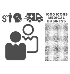 Clients Icon with 1000 Medical Business Pictograms vector image