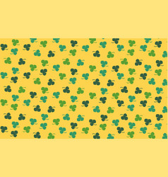 clovers pattern vector image