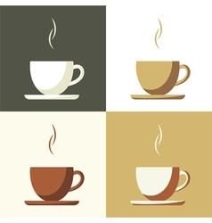 Coffee cup set icon vector