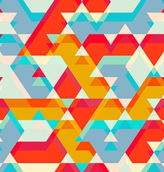 colored star seamless pattern vector image
