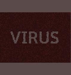 Computer virus design vector