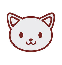 cute cat face image vector image