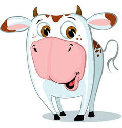 cute funny cow character cartoon vector image