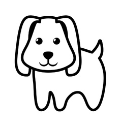 Dog little pet domestic outline vector