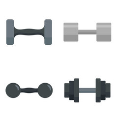 dumbell icon set flat style vector image