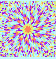Dynamic hypnotic colorful round mosaic pattern vector