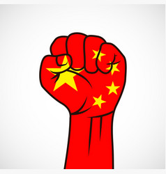 fist with the flag vector image