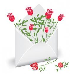 Flower mail vector