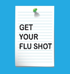Flu shot memo3 preview vector