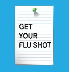 flu shot memo3 preview vector image