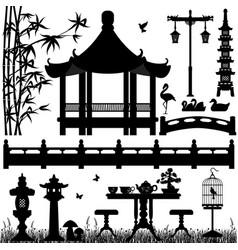 garden park outdoor recreational a set of asian vector image