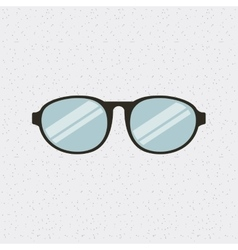 glasses fashion isolated icon vector image