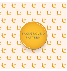 gold moon and star textures pattern background vector image