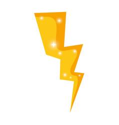 golden ray thunder icon vector image