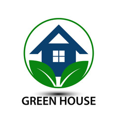 green house business logo vector image