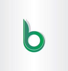 green letter b stylized symbol vector image