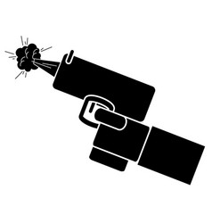 hand with gun icon vector image