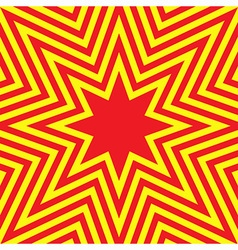 Hot Eight Pointed Star Abstract Background vector image