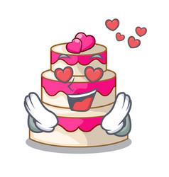 in love wedding cake in a cartoon fridge vector image