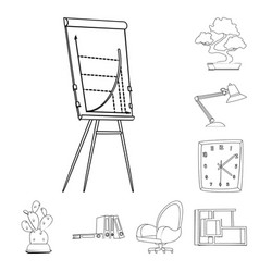 isolated object furniture and work symbol vector image