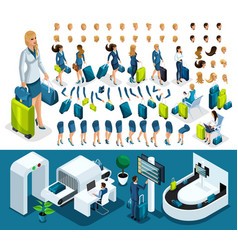 isometric set create your character vector image