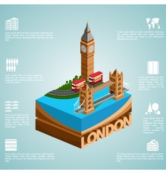 Isometry city London vector image