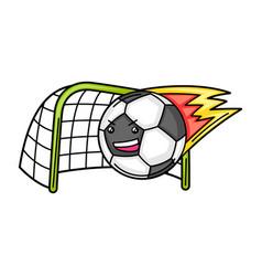 Kawaii ball is scored into goal vector