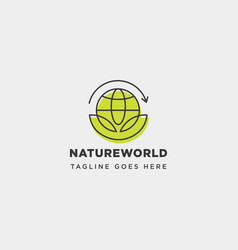 Leaf planet nature simple logo template icon vector