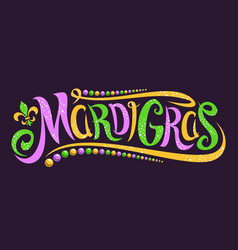 lettering for mardi gras vector image
