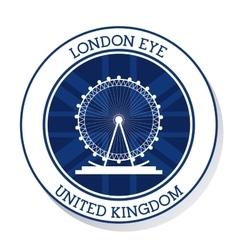 London eye United kingdom graphic vector