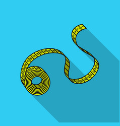 Measuring tape icon in flat style isolated on vector
