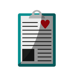 Medical history icon image vector