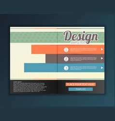 modern abstract brochure design for infographics vector image