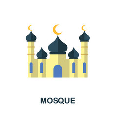 Mosque icon simple element from muslim collection vector