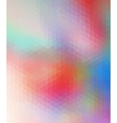 Motley colored polygonal consist of triangles vector