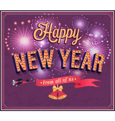New year typographic design vector