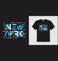 new york geometric abstract style t-shirt and vector image
