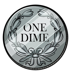 One dime vector