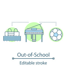 Out-of-school activities concept icon vector