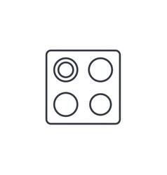 oven stove thin line icon linear symbol vector image