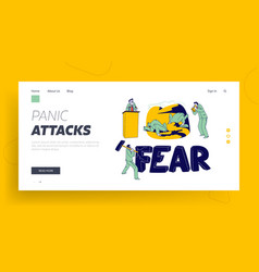 panic attack disorder landing page template male vector image