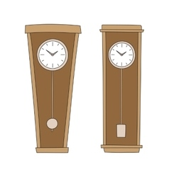 Pendulum clocks vector