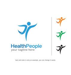 people logo template design vector image