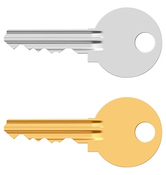 Pin tumbler lock key vector image