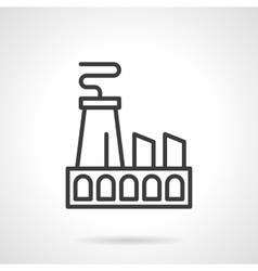 Power station black line icon vector