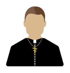 Priest cartoon icon isolated vector