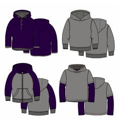 Purple hoodies vector