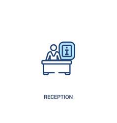 Reception concept 2 colored icon simple line vector