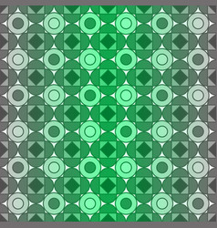 seamless gray and green geometric pattern vector image
